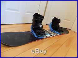 136 cm K2 Snowboard Snow Board Burton Bindings Size 6 RIDE Boa Boots Combo