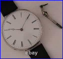160 Years Old All ORIGINAL Cylindre 1860 French Silver Wrist Watch Mint Serviced