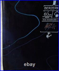 17-18 Ride Berzerker Used Mens Demo Snowboard Size 160cm #742881