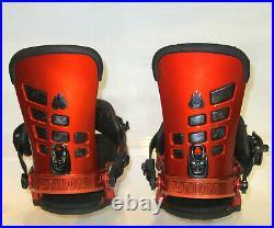 17 Union T Rice Snowboard Bindings Metallic Red Medium M pro force falcor travis