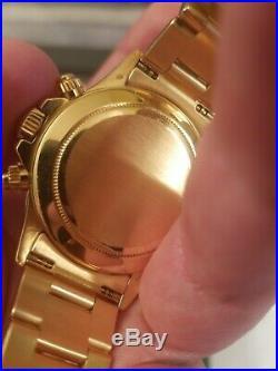 18kt Gold Rolex Daytona Zenith 16528 L serial 1989 All Factory mint condition