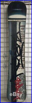 2004 Limited Rare Burton Custom x Stash Graffiti Artist Collab Snowboard 158cm