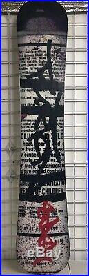 2004 Limited Rare Burton Custom x Stash Graffiti Artist Collab Snowboard 162cm