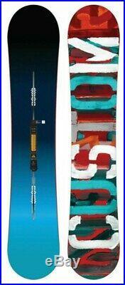 $610 Burton Custom Flying V Snowboard 151 Channel Twin Tip All Mountain Blue
