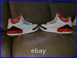Air Jordan 3 Retro Fire Red 2013 VNDS/MINT/OG ALL Size 11.5 US 1 4 5