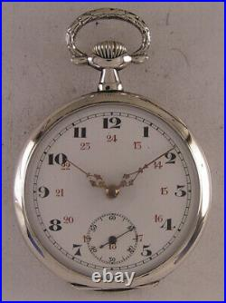 All Original 120 Years Old Chronometer Swiss Silver Pocket Watch MINT Serviced