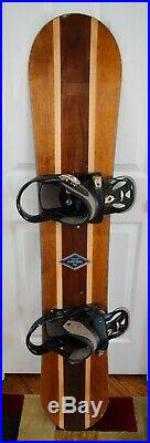Arbor A-frame Snowboard Size 154 CM With Burton Large Binding
