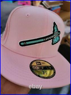 Atlanta Braves Hat 2021 All Star Game Pink Clear Mint Brim New Era Club 7 1/8