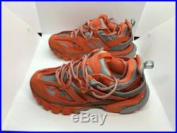 Balenciaga Red Orange Grey Track Sneakers Size Men EU 43 / US 9.5 MINT OG ALL