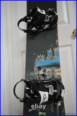 Burton Bullet Wide Snowboard Size 167 CM With Xlarge Ride Bindings