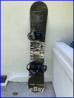 Burton Custom All Mountain Men's Snowboard Incl Bindings W19-106881 Size 158