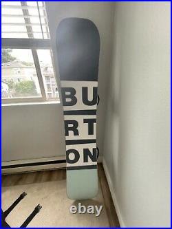 Burton Custom Men's Snowboard Size 158 withStep-on Bindings, 9.5 Boots-bag inc