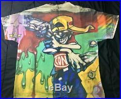 CONART Clothing Rare Vintage Graffiti All-Over Print 2X T-Shirt MINT CONDITION