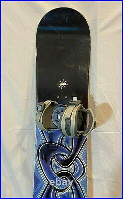 Gnu Carbon High Beam 156cm Twin-Tip All-Mtn Snowboard withRIDE Preston LS Bindings