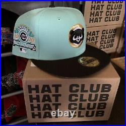 Hat Club Exclusive 7 3/8 Mint Conditions Cubs Two Tone 1990 All Star Game Patch
