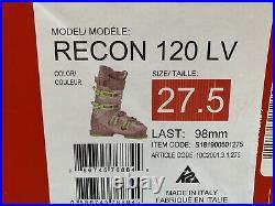 K2 Recon 120 LV Ski Boots 27.5 Mens (9.5 US)