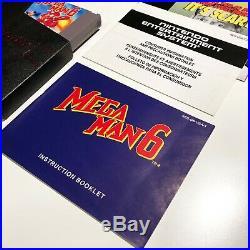 MEGA MAN 6 MINT IN BOX- SAMMLERZUSTAND incl all inserts CIB NES Nintendo