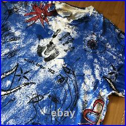 MINT Vtg 90s 1992 The Cure All Over Print Wish Tour Concert T Shirt XL Brockum