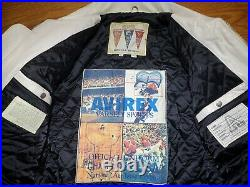 MINT White All American USA 1975 Avirex leather jacket XL NAS Method Man Belly