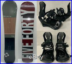 Men's Beach Green All Mountain Snowboard 155cm + Altitude Bindings L/xl 8.5-13