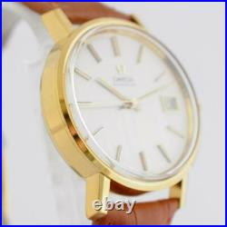 Mint All Original Omega Seamaster Automatic Quickset Date Vintage Gold Plated Ss