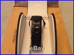 Mint Condition Mens Movado Luno Sport All Black Watch with Movado Box & Case