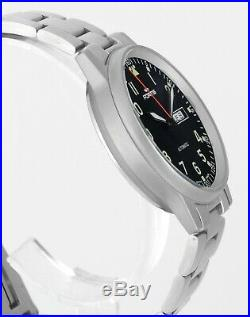 Mint FORTIS Day Date Flieger Automatic All Stainless Steel Mens Wrist Watch