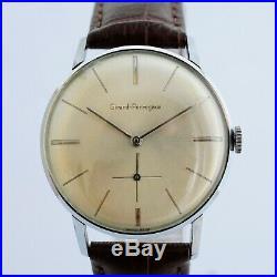 Mint Swiss Girard Perregaux All Original Manual Wind Steel Vintage Gents Watch