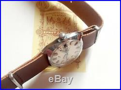 Mint Vintage Enicar Automatic Day Date 25 Jewels Full Original All Steel For Men