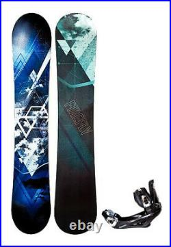 NEW $475 Men's Firefly Furious Wide Snowboard + NEW 5th Element Bindings 159cm W