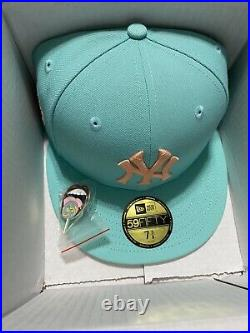 New Era 59Fifty Mint Sugar Shack Yankees 1977 All Star Game Patch Hat SIZE 7 3/8
