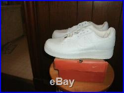 Nike Air Force 1 Low Men's Size US 11 All White 306353-112 made in 2003 NIB mint