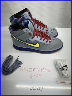 Nike Dunk High Premium All Star Game Galaxy Blue Grey Size 12 Mint Condition