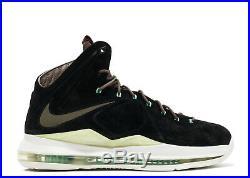 Nike LeBron 10 X EXT QS Mint Black Suede 11.5. 607078-001 MVP bhm all star