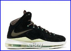 Nike LeBron 10 X EXT QS Mint Black Suede 13. 607078-001 MVP bhm all star