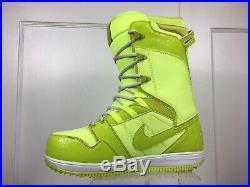 Nike SB Vapen Snowboard Boots 2011 All-Mountain Rare Sample Volt Men Sz 9.5 EUC