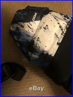 North face supreme jacket puffer all over mountain print