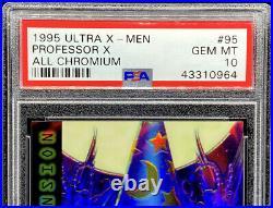 Professor X 1995 Ultra X-Men All Chromium #95 GEM MINT PSA 10 POP 1