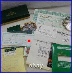 Rolex Oyster Perpetual 18k/SS Mens 34mm Watch Jubilee All Orig Papers MINT 1984