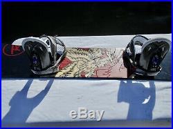 Rossignol Circult 45 Snowboard 145cm Burton Medium Bindings Nice Board