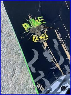 Salomon Pulse 152 cm Snowboard TECHNINE Bindings M GIRO WHITE HELMET MONKEY