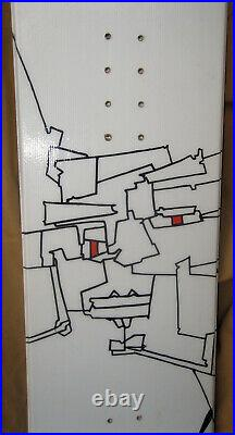 Snowboard Avalance SOL 160CM Great Design Face Wall Art Great Shape White Black