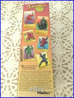 TALKING TURBO MAN (MINT IN BOX) JINGLE ALL THE WAY 13.5 1996 TIGER Electronic