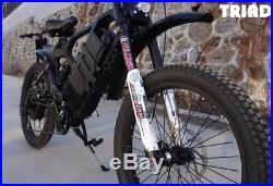 TRIAD Interceptor TXcf Carbon Fiber Electric Mountain Bike 60v eBike 2X2 AWD