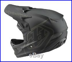 Troy Lee Designs 2018 Bike D3 Fiberlite Helmet Mono Black Adult All Sizes