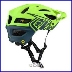 Troy Lee Designs A2 MIPS Decoy Flo YellowithBlue Mountain Bike Helmet All Sizes