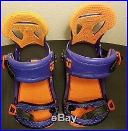 Union Force SL XL All Mountain Toe Cup Purple / Orange $270 MSRP