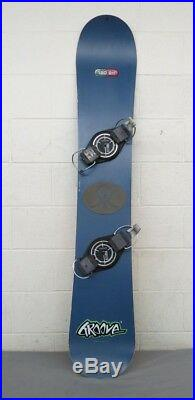 Vintage 1990s Rad Air Groove 159cm All-Mountain Snowboard Proflex Hard Bindings