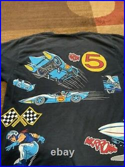 Vintage 1992 Speed Racer All Over Print T-shirt LARGE MINT Single Stitch RARE