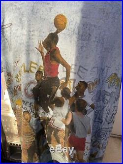 Vintage 1999 Chicago Bulls Jordan Nike Playground T-Shirt All over Print OG Mint